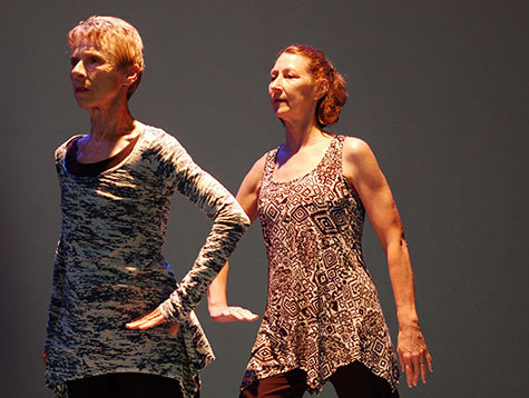 Mary-Jean Cowell and Cynthia Kahn perform