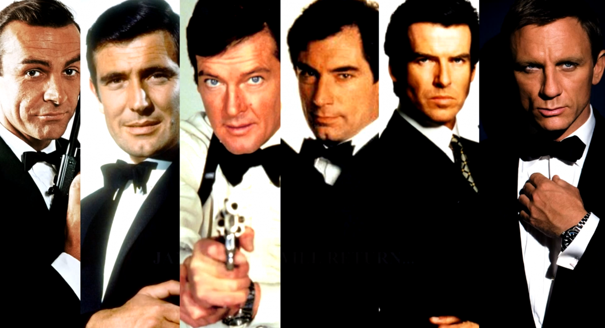 The many faces of James Bond