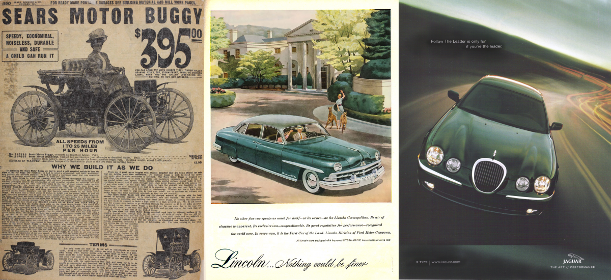 The evolution of car advertisements