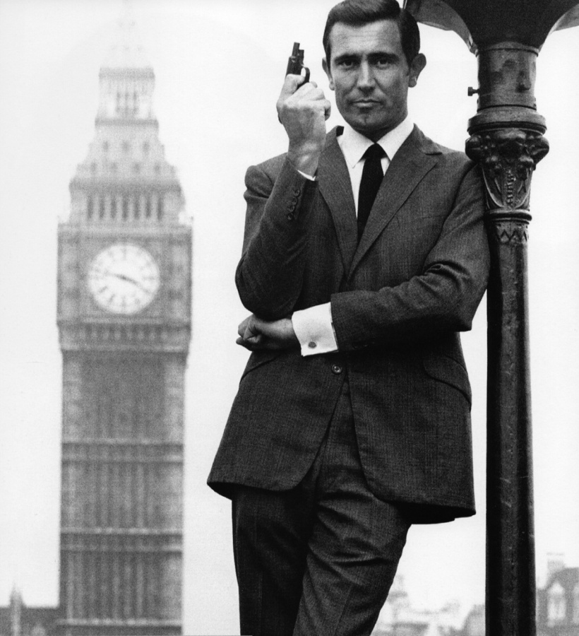 Caption: George Lazenby in promo shots for On Her Majesty's Secret Service