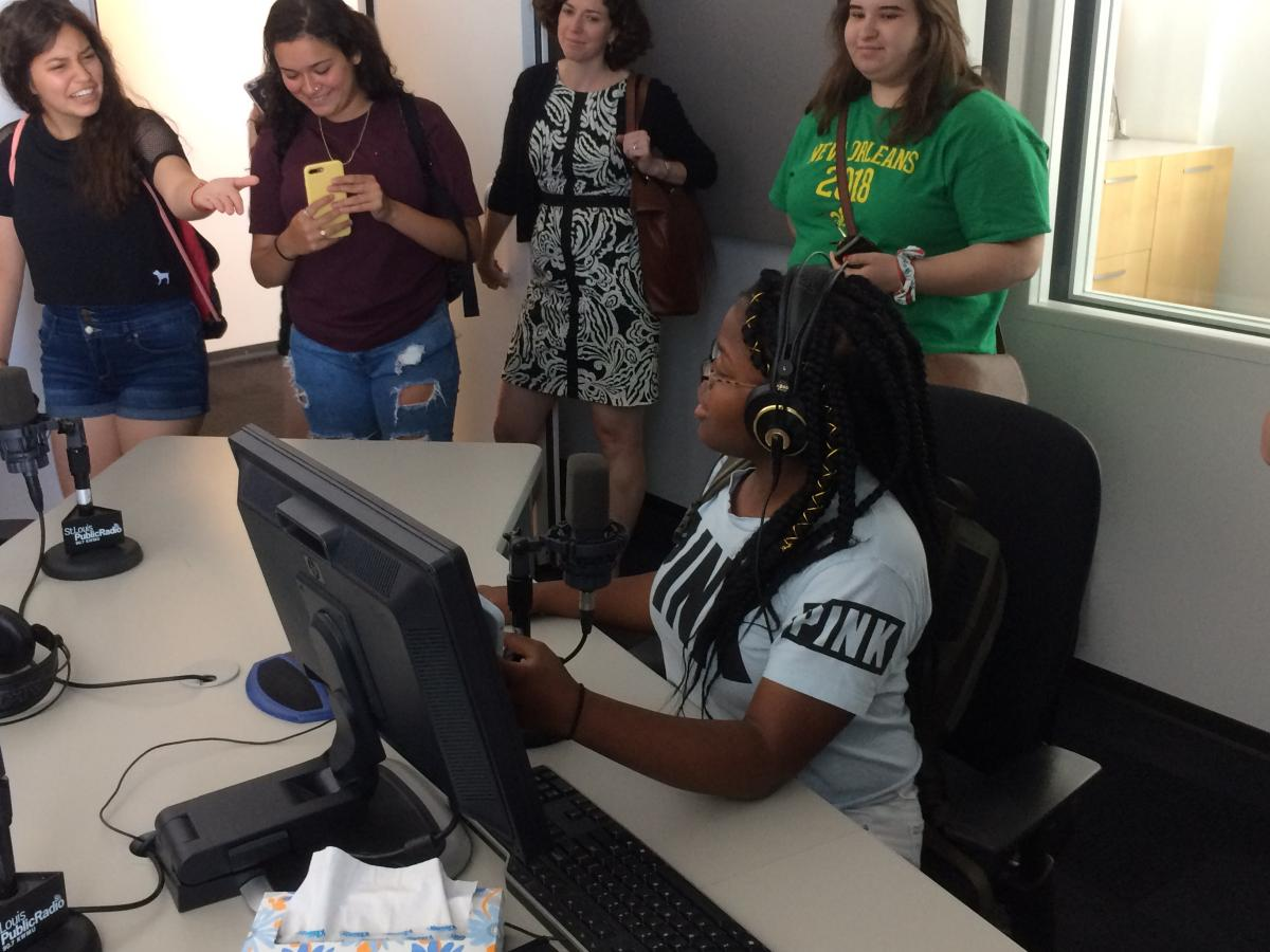 Summer Humanities Institute students visit St. Louis Public Radio