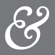 grey ampersand logo