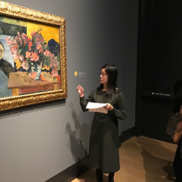 Art history and archaeology students explore Gauguin in London