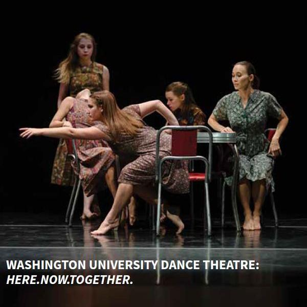 "Washington University Dance Theatre presents ""Here.Now.Together."""