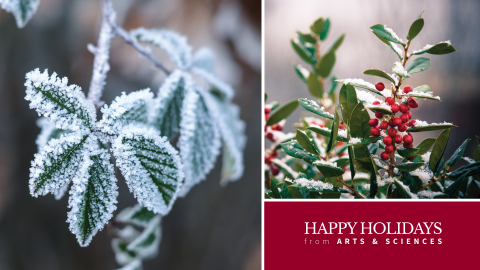 Happy Holidays from Arts & Sciences