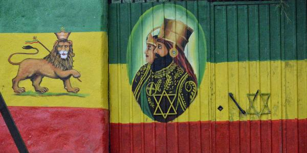 Rasta mural in Ethiopia