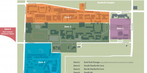 WashU Parking Zones