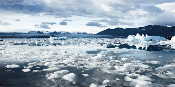 climate change is melting glaciers in the arctic