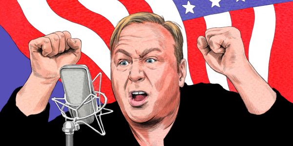 Radio host Alex Jones