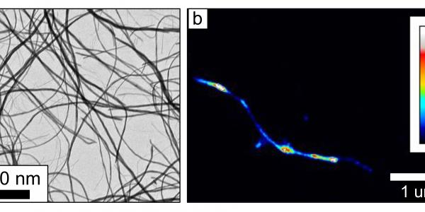 Two images of nanocrystal surfaces
