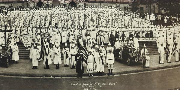 Klan march in Harrisburg, PA