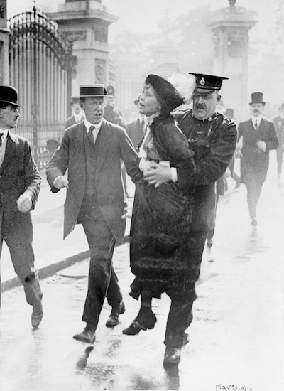 A suffragette is arrested