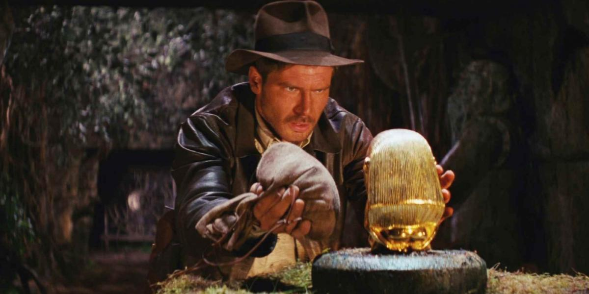 Harrison Ford in the opening scene of Raiders of the Lost Ark.